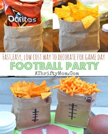 Football Superbowl party ideas, low cost and easy ways to decorate for game day, Football Food, Game day recipes made easy and budget freindly