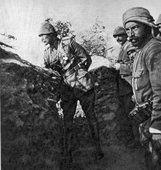 Turkish reaction - Mustafa Kemal Atatürk (on the left)