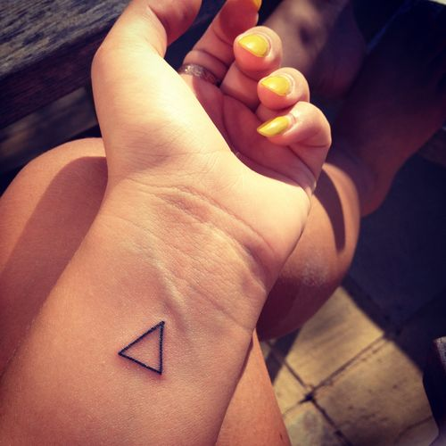 triangle tattoo - mathematical symbol for 'change'