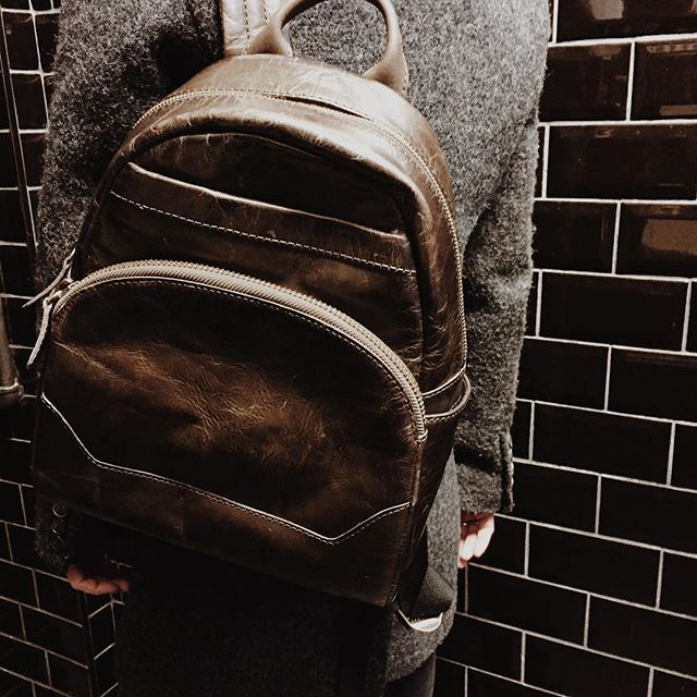 """""""Though she be but little she is fierce."""" This small-sized Frye backpack will last you, in style and quality, through the years."""
