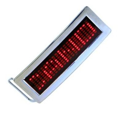 LED Belt Buckle Programmable Scrolling Display Message