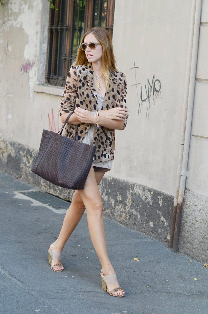 #fashion #fashionista Chiara fantasia grigio Leopard blazer | The Blonde Salad