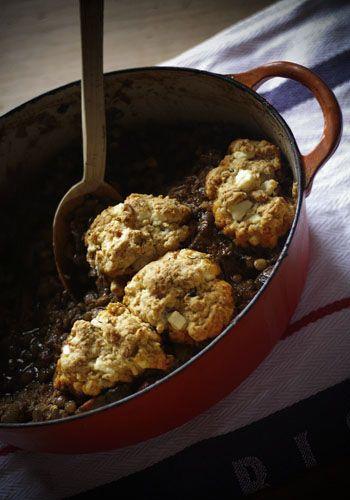 Lentil Hotpot w/ Feta & Thyme Dumplings