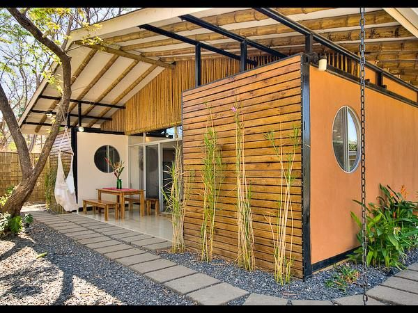 Creative ideas enchanting container homes costa rica with wooden wall bamboo ceiling wooden - Build rectangular gazebo guide models ...