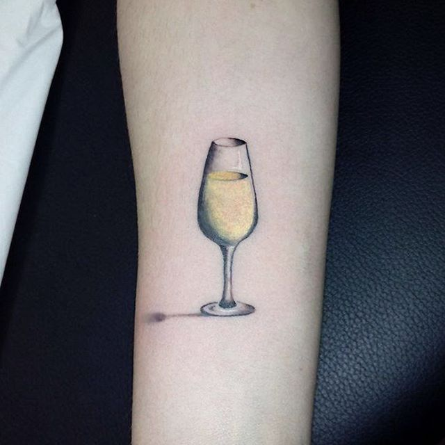 Wine tattoo ideas.