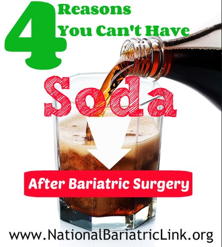 reasons soda coke pepsi carbonation is bad after bariatric surgery | gastric bypass surgery | gastric sleeve surgery | lap band surgery |