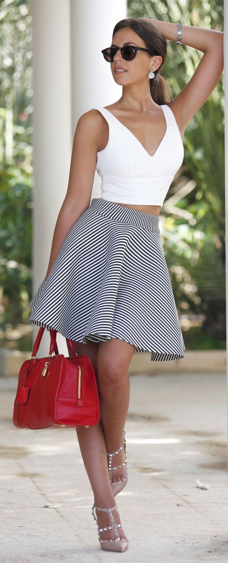 Striped Ballerina Skirt by 1sillaparamibolso