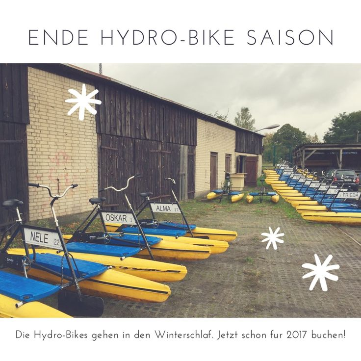 Wer ist dieses Jahr nicht mehr geschafft hat Hydrobike zu fahren kann hier schon seinen Termin für 2017 Anfragen: http://bit.ly/2e8kcfQ