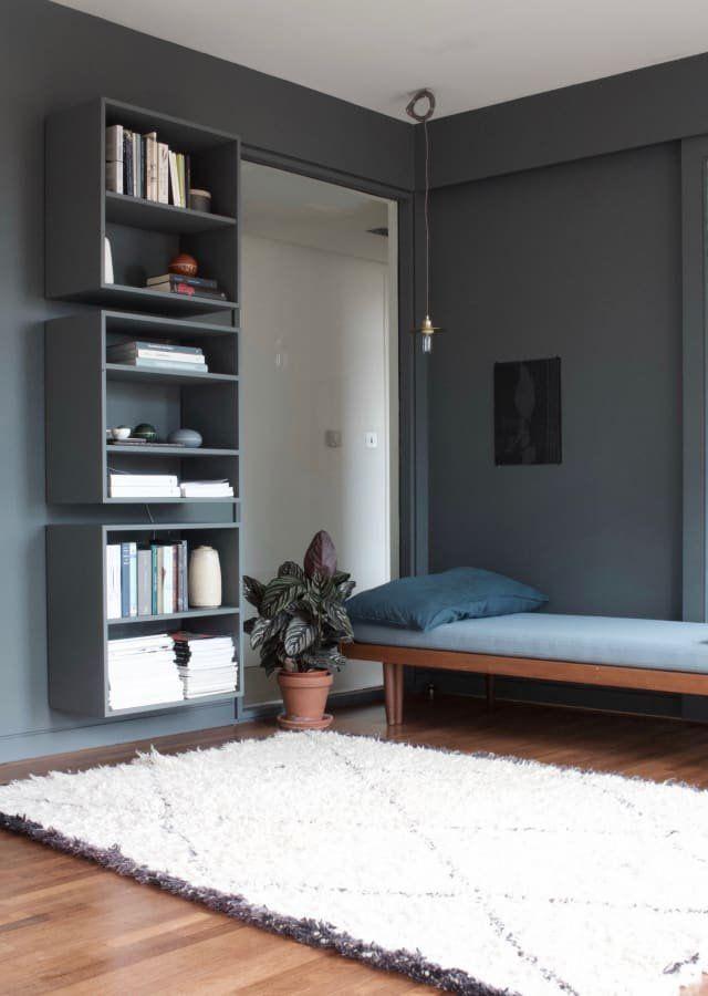 This Danish Inspired London Flat Is Moody Minimal Modern Home Interior Design Modern House Design Interior Design Bedroom