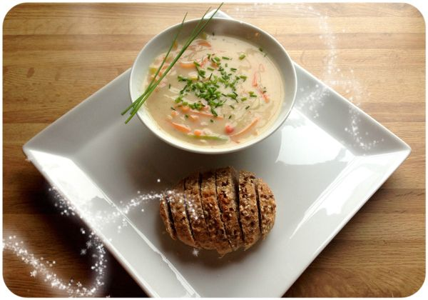 Oppskrift; fiskesuppe og grove spelt-scones