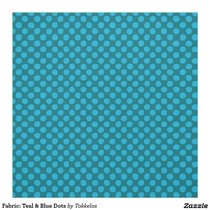 Fabric: Teal & Blue Dots