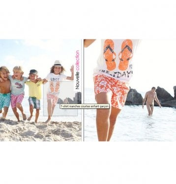LaRedoute (A leading French mail order catalogue for fashion) promoting clothes for children show them running from a nude man at the beach. More than a little disturbing #adfail2012.