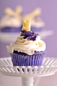 Purple Velvet Cupcakes. #food #purple_velvet #cupcakes
