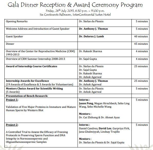 4 awards event program templates