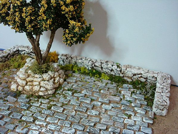 Paving stones. For Santons and nativity stables, accessories and figures shop > www.mygrowingtraditions.com