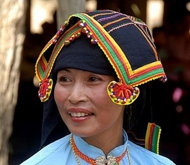 Laos | Portrait of a woman of the Tai Dam ethnic group wearing traditional clothing. Muang Mai district, Phongsali or Phongsaly province | ©Imagebrokerrm