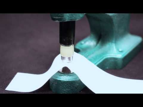 SNAP APPLICATION TUTORIAL - DK-93 Manual Snap Press - Screw in Die Sets - KAM Snaps, Grommets, & Metal