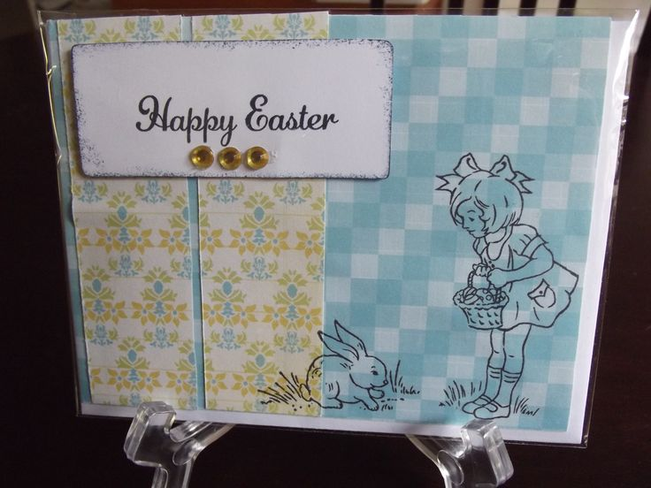 Easter card that I made using Close to my Heart stamps and ink.