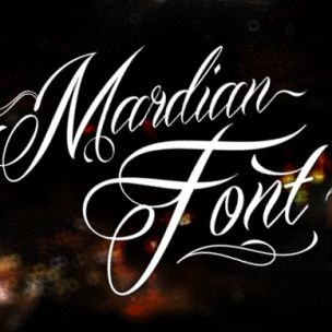Mardian Font Calligraphy Swashes Typeface You Can Buy