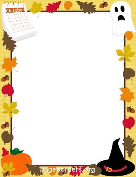 Printable October border. Use the - 31.5KB