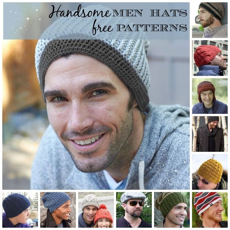 15 Incredibly Handsome Winter Hats for Men to Knit or Crochet.