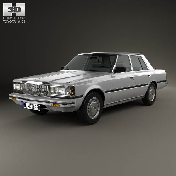 Toyota Crown (S110) Super Saloon 1982 3d model from humster3d.com. Price: $75