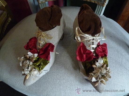 Antigüedades: Preciosos par de zapatos antiguos. - Foto 9 - 35842325