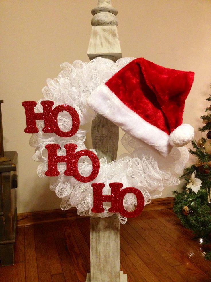 Santa Wreath.  Cute!