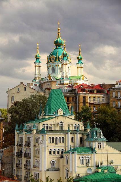 Saint Andrew's Church, Andriyivskyy Descent, Kiev, Ukraine