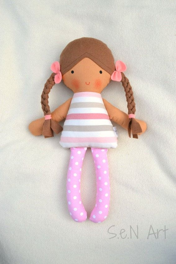 Soft Doll Rag Doll Softie Cloth doll Soft Baby by SenArt1 on Etsy                                                                                                                                                                                 More