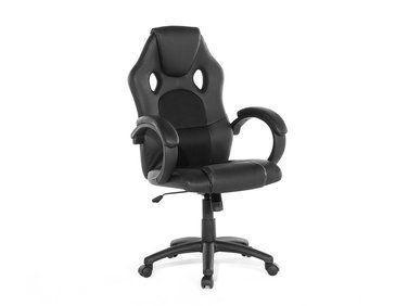 Chaise de bureau en cuir synthétique couleur noire rest notre