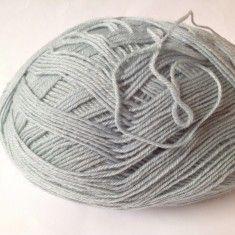 Ata - Fir de tricotat sau crosetat, lana 75% moale, bleu-gri-verzui, superb