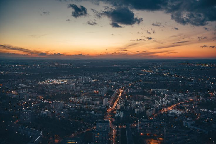 From Sky Tower, Wrocław.