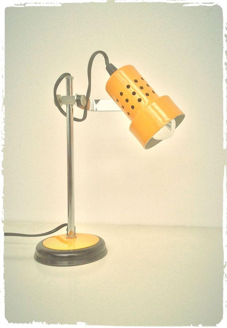 OOMPA - Lampe de Bureau Vintage Jaune Soleil