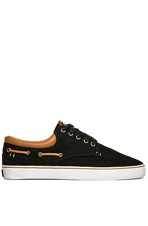 Radii The Deck Black Brown (vans meets boat shoe + mixing neutrals)