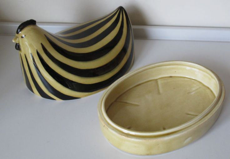 Rare VTG ARABIA Finland EGG DISH AND COVER designed Kaarina Aho in Pottery, Porcelain & Glass | eBay