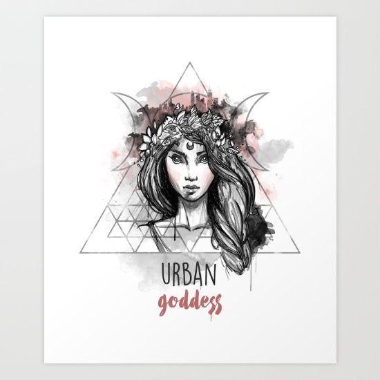 Urban Goddess Art Print by Erika Biro | Society6