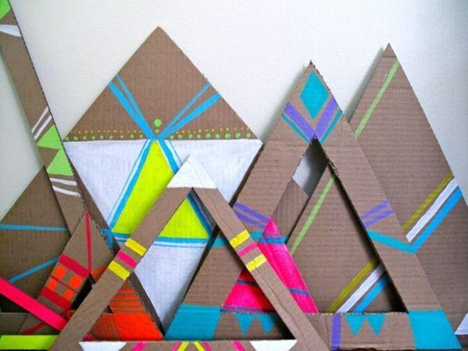 Cardboard triangles