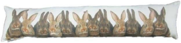 QUALITY DRAUGHT EXCLUDER Rabbits Shabby Chic Fabric FUR DOOR EXCLUDERS