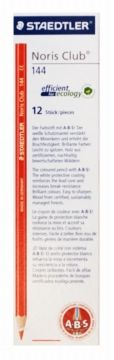 Also have a pack of 3 - $3.10 Staedtler Noris Club Colourpak Red Pack of 12 The coloured pencil with Anti Break System. ideal for copy and correction The white protective coating reinforces the lead core and increases break resist