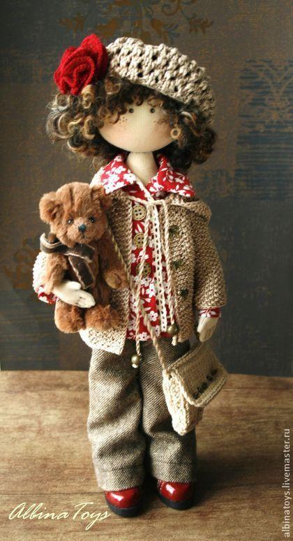 Соня. По мотивам. - ярко-красный,кукла ручной работы,кукла,кукла в подарок