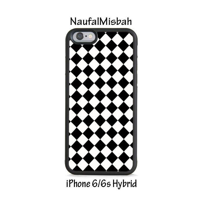 Black White Diamond iPhone 6/6s HYBRID Case Cover