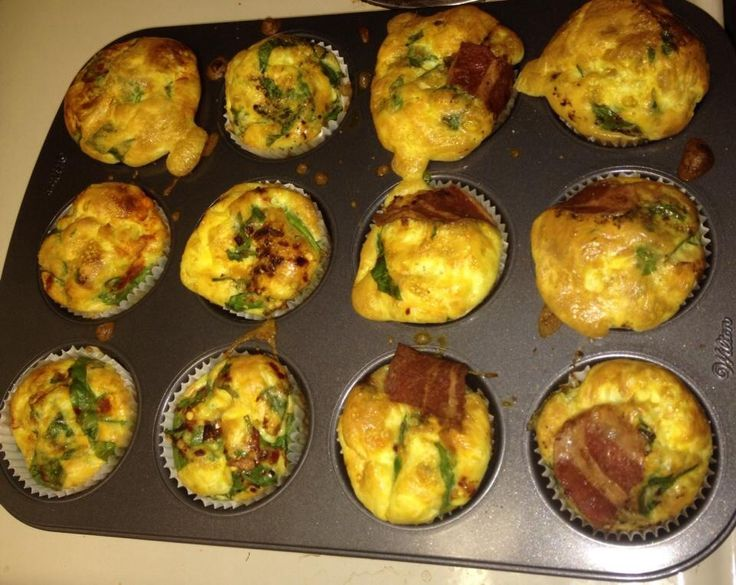 Breakfast on the go ! Scramble 15 eggs add cheer and any desired veggies as u would an omelette mix add milk if desired fill your muffin pan evenly put in oven on 350 for about 20 mins .. Breakfast for all week complete ... Now u can sleep in a bit more befor work/school/kids