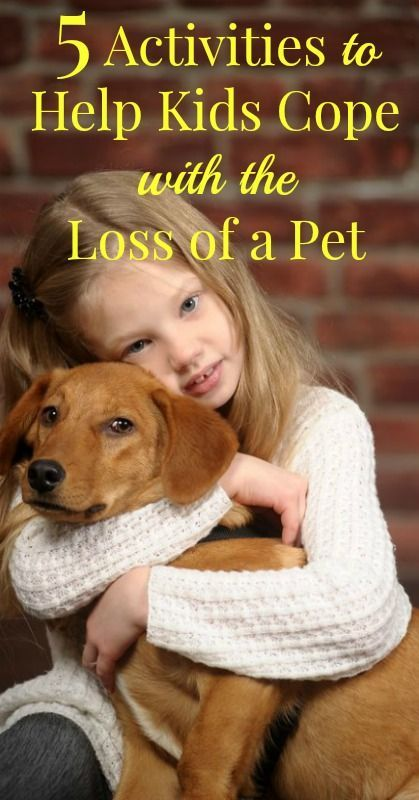 5 Activities to Help Kids Cope with Loss of a Pet - If your family has recently lost a pet or is facing the loss of a pet here are 5 ways that you help ease your children through the pet loss grieving process.