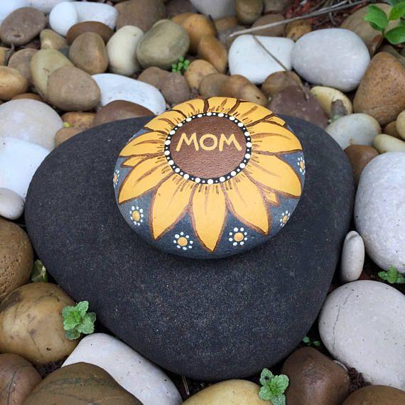 Beautiful Mom Sunflower Rock Indoor or Outdoor