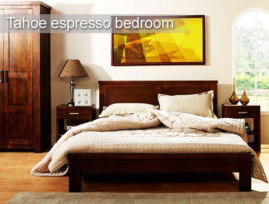 #Tahoe Espresso Bedroom #Furniture Contemporary Look With Tahoe Espresso  Furniture. Soothing, Long