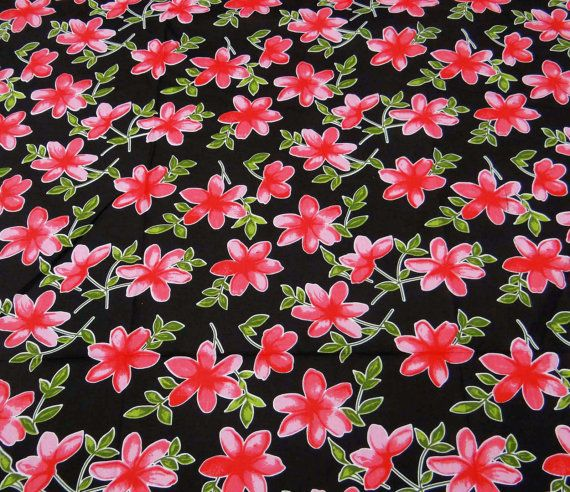 Designer Fabric Floral Print Black Fabric Dress Material