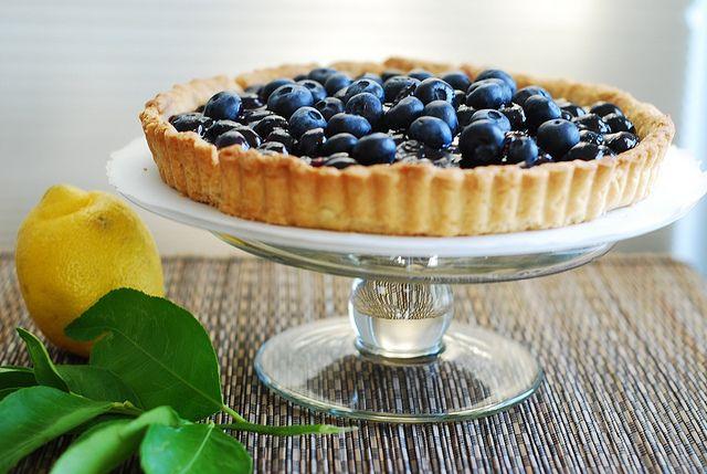 Blueberry Tart - cornstarch - fresh blueberries - lemon - sugar - JuliasAlbum.com