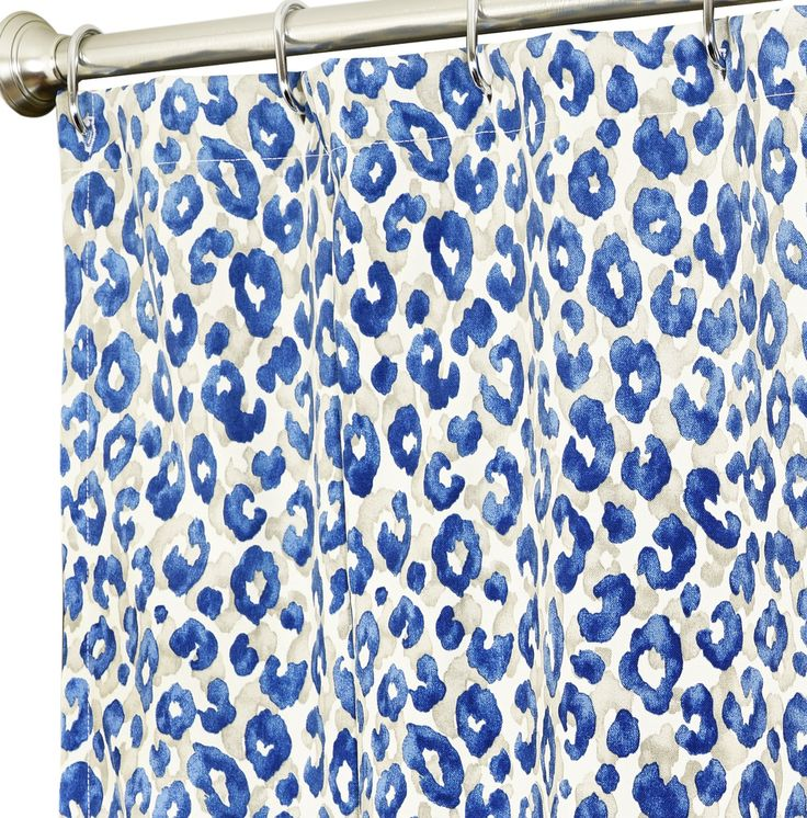 Extra Long Shower Curtains Blue Animal 100 Polyester Comes In Various Lengths