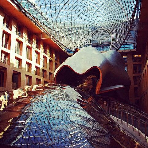 Pretty cool lobby for a bank building! DZ Bank in Berlin, Germany by Frank Gehry - Architecture & Design